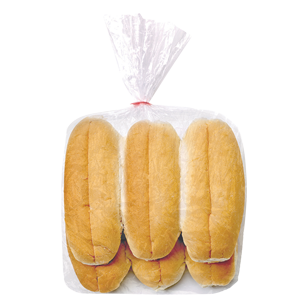 Hot Dog Top Sliced White 7″ 6 Pack product photo