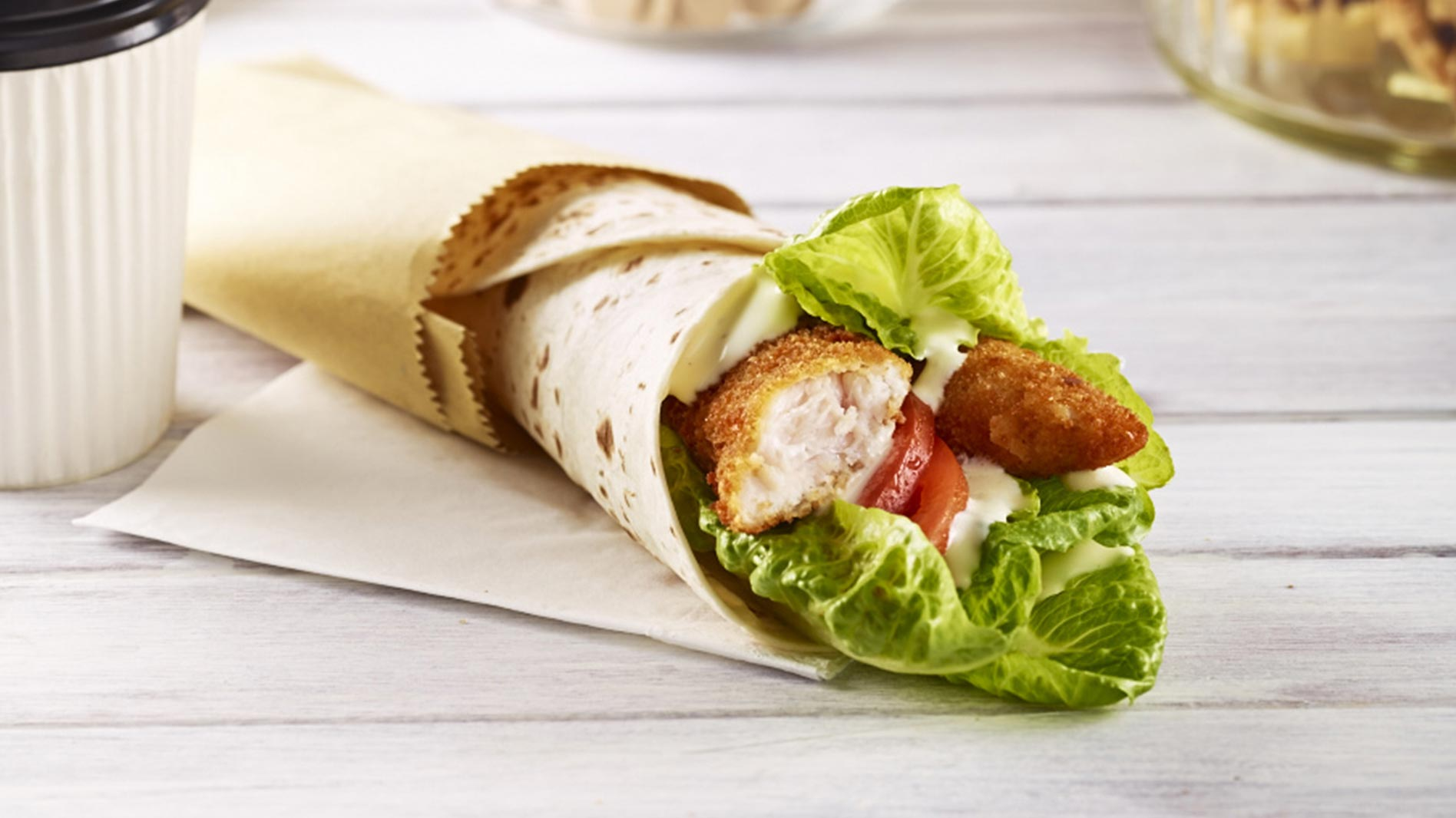 Crispy Chicken Fillet Caesar Wrap