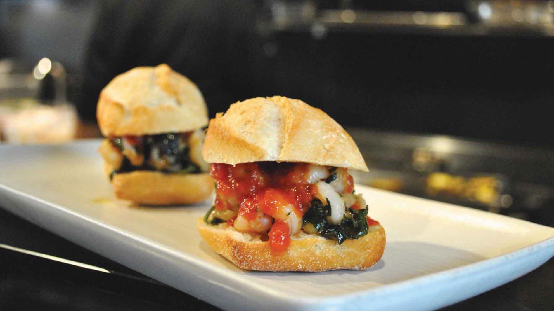 Chilli and Garlic Prawn Slider