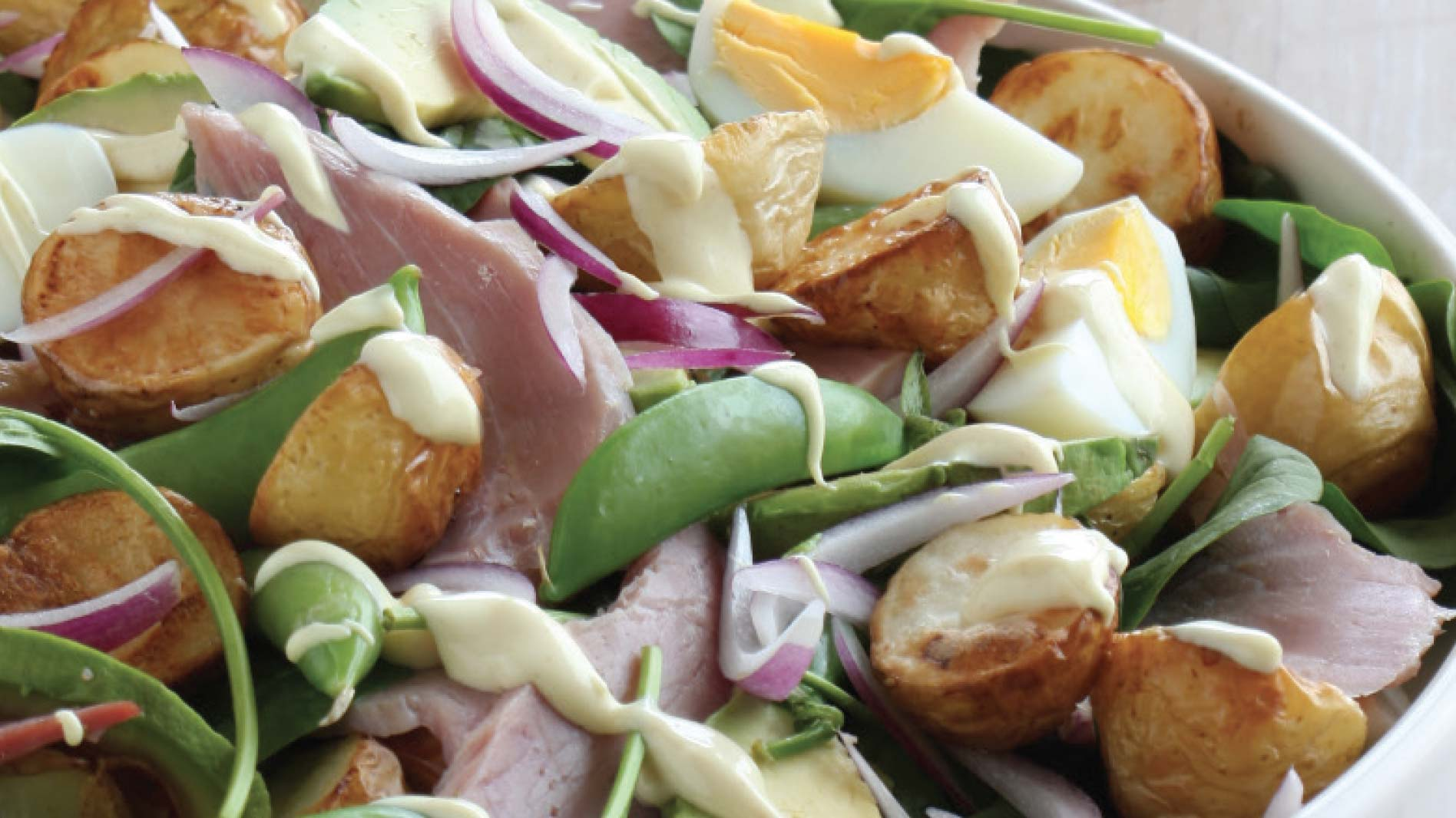 Ham and Whole Egg Mayo Potato Salad