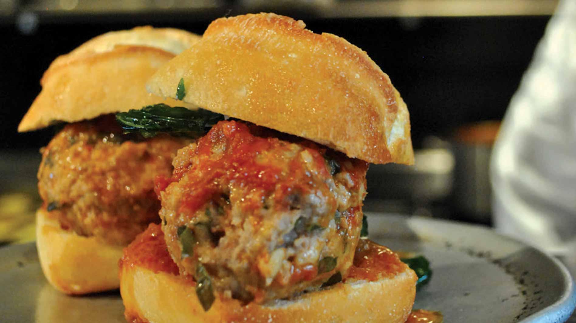 Italian Pork and Veal Meatball Slider