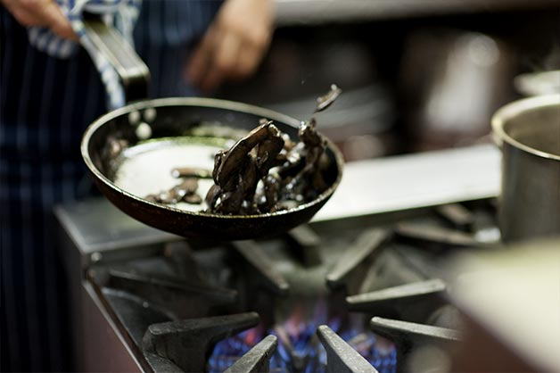 Egg and Maple Glazed Bacon Wrap with Ouzo Aioli
