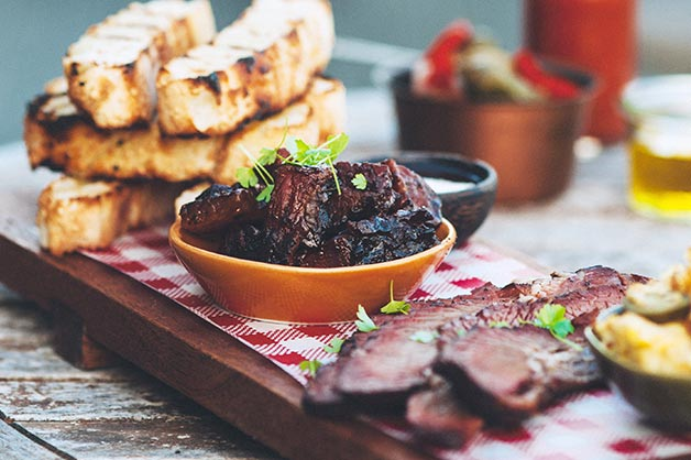 Texas Tasting Platter with Brisket Two Ways