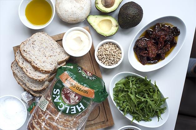 Image 1 - Vegetarian sandwich ingredients