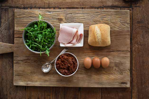 Bacon and Egg Roll Ingredients