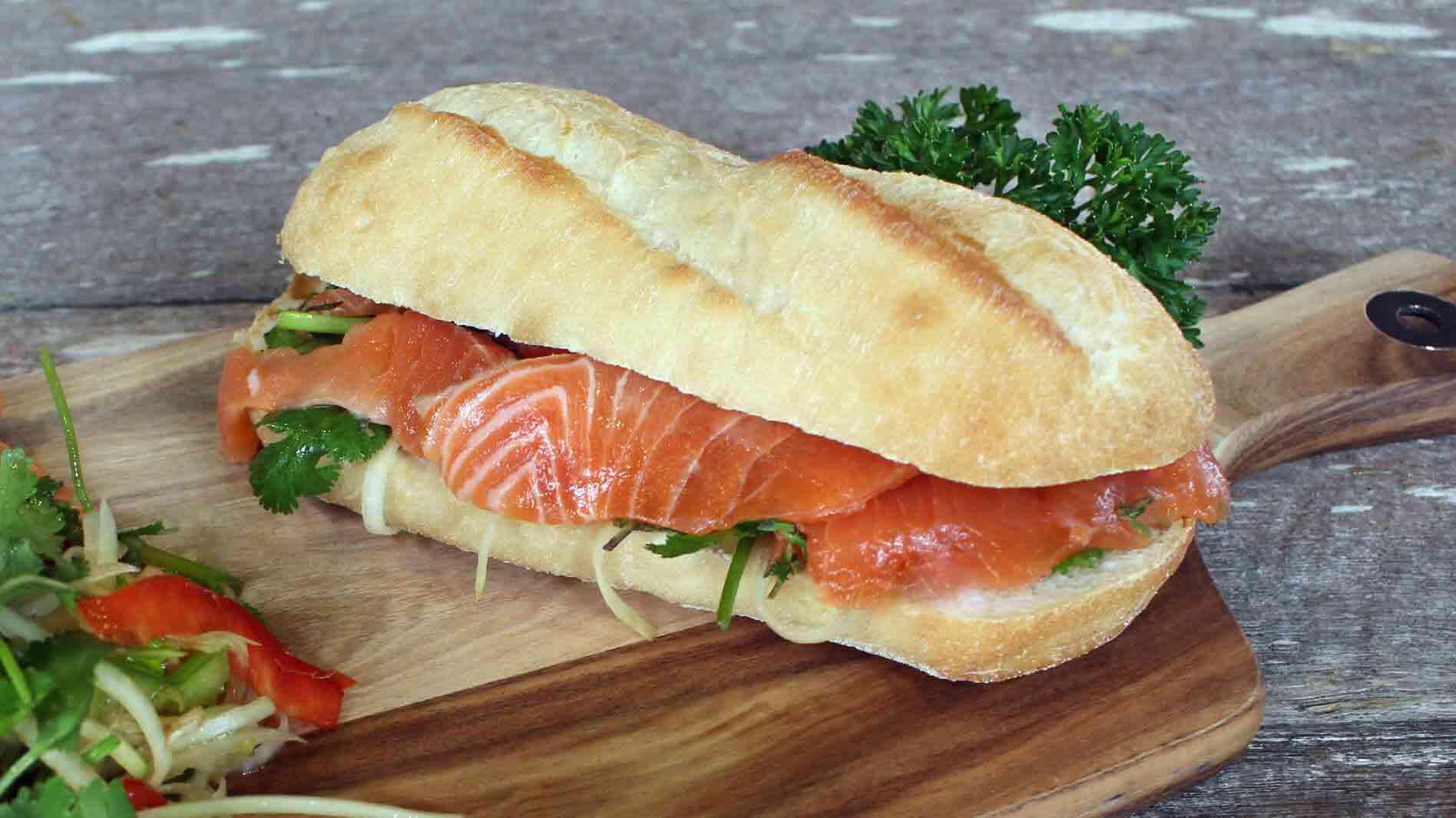 Salmon Ceviche Sandwich