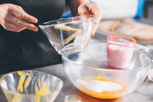 Add Egg Yolks and Sugar