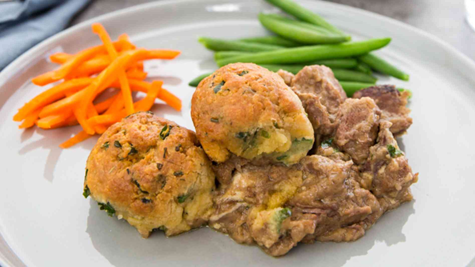 Steak and Kidney Casserole with Sage Dumplings