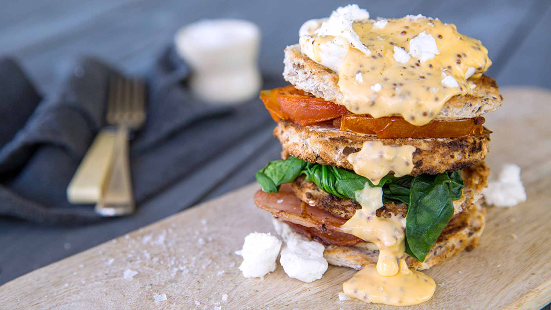 Seeded Breakfast Stack