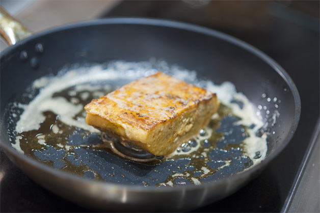 Frying the French Toast
