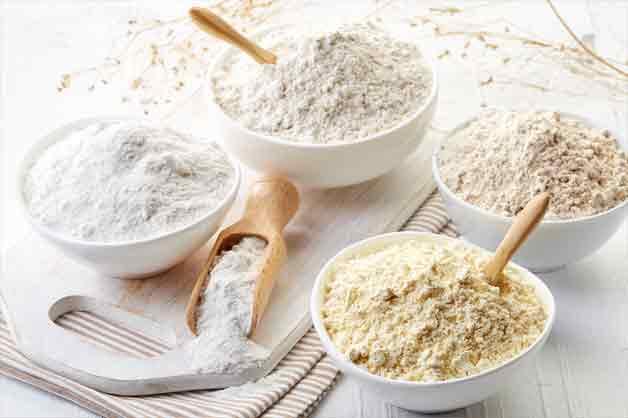 Range of flour