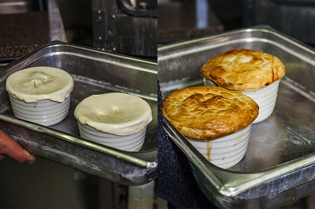 Before and after pastry