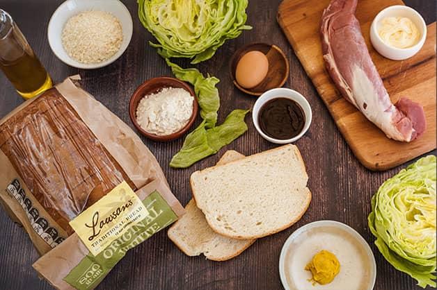 Raw ingredients for Pork Katsu