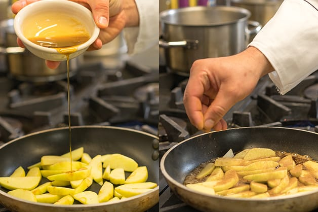Cooking of apples