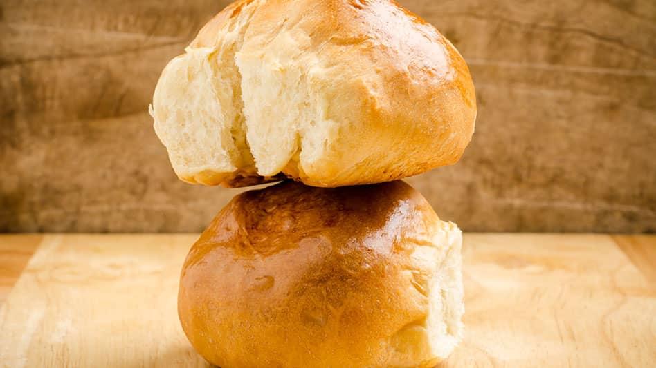 White bun