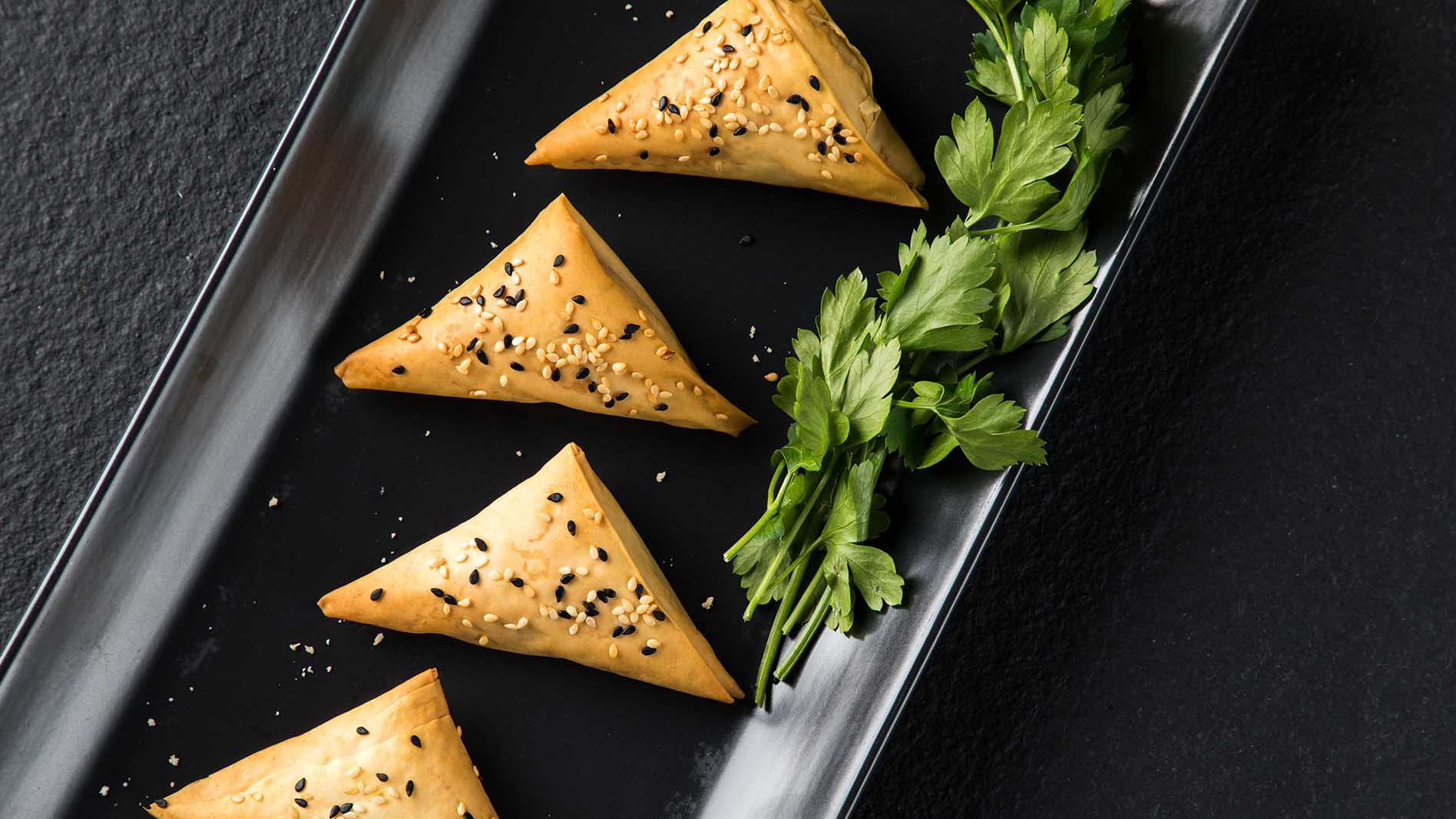 Spinach and Cream Cheese Triangles