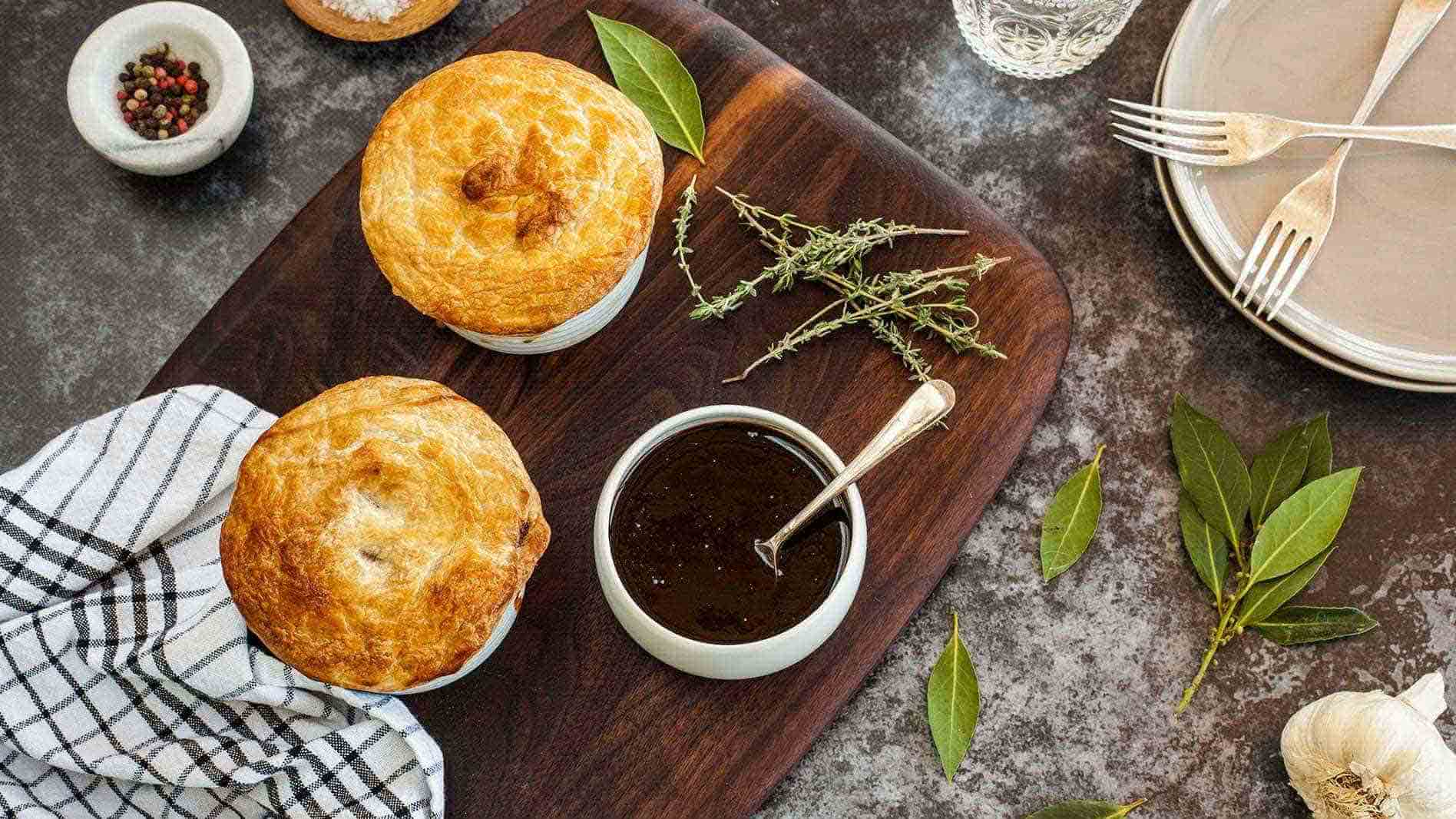 Beef Brisket Pie with ETA BBQ Sauce