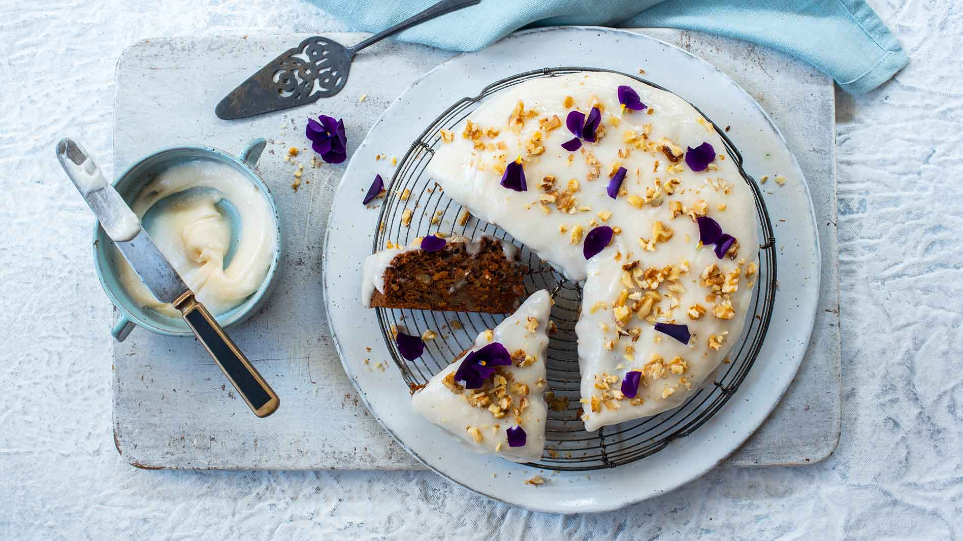 Carrot Cake With Vegan Cream Cheese Frosting