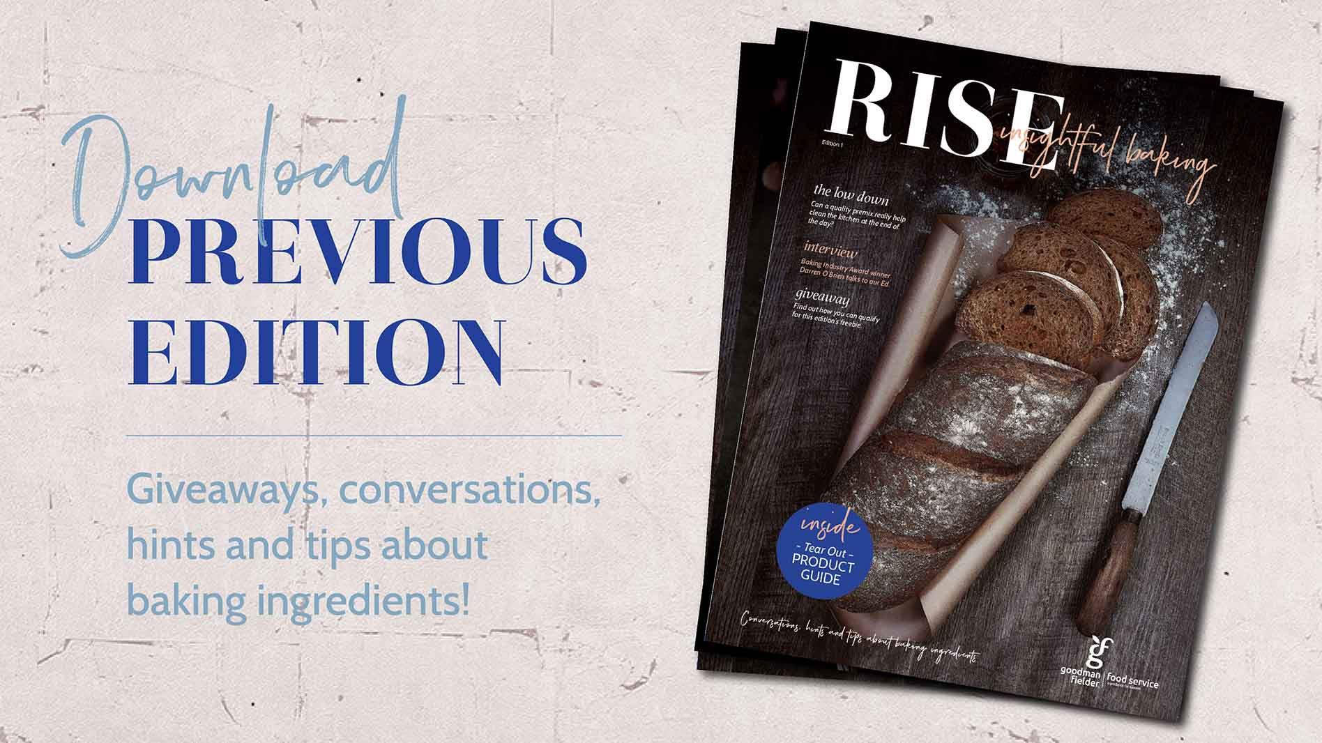Rise Insightful Baking: Edition One