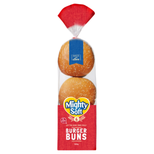 Image of Mighty Soft Burger Buns 6 Pack