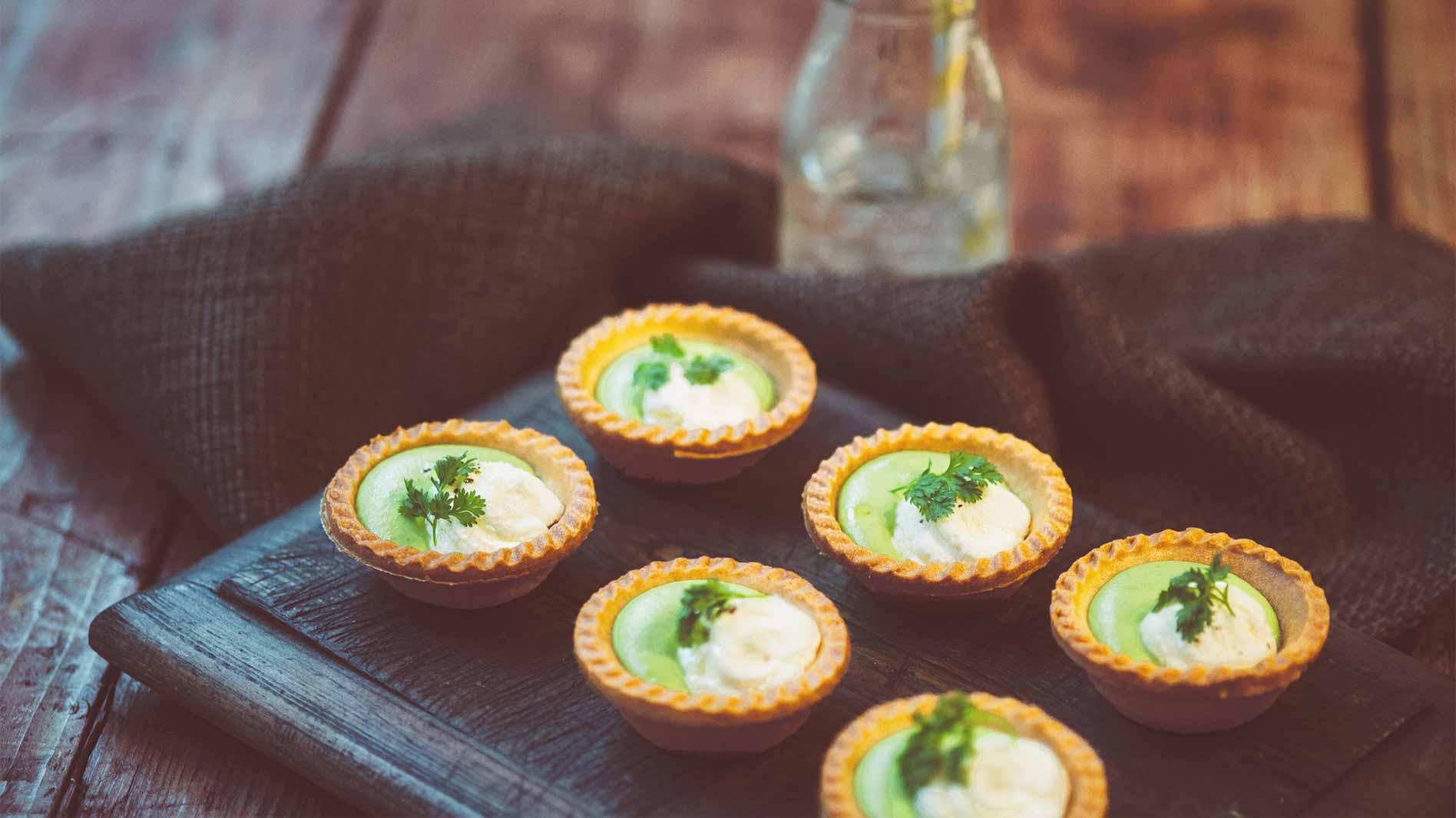 Pea and Feta Tartlets