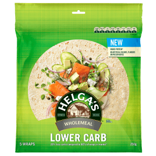 Helga's Lower Carb Wholemeal Wraps 8 Inches 5 Pack product photo