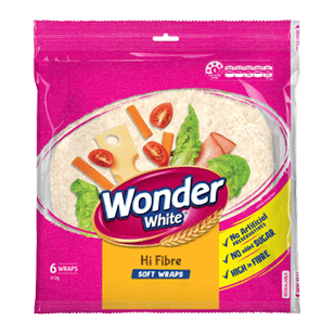 Wonder Wrap Hi Fibre Plus 8 Inches 6 Pack