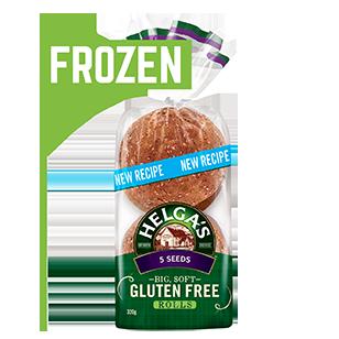Helga's Gluten Free 5 Seed Rolls 320g Frozen