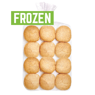 Hamburger Sliced Seeded White 5″ 12 Pack Frozen product photo