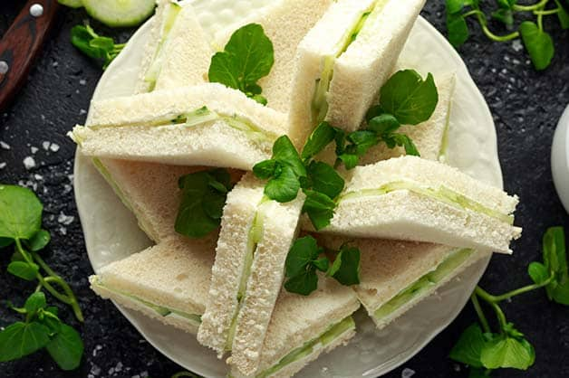 The English classic Cucumber Tea sandwiches