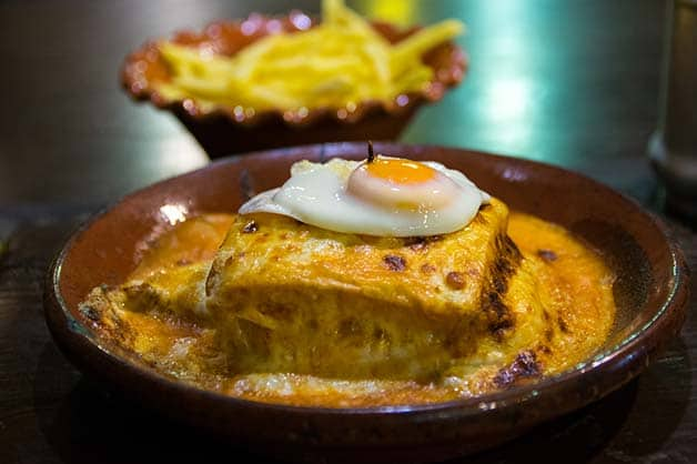 An old-school classic from Portugal is their Francesinha
