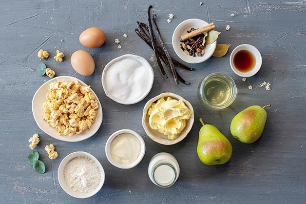 Beurre Noisette Ice Cream Raw Ingredients