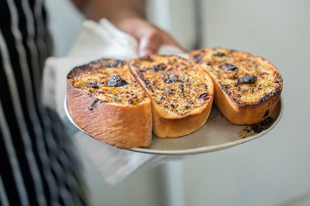 Finished Black Garlic Bread