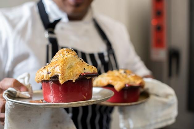 Bake the pies until golden brown