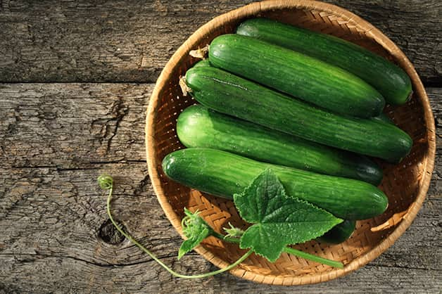 An image of cucumbers