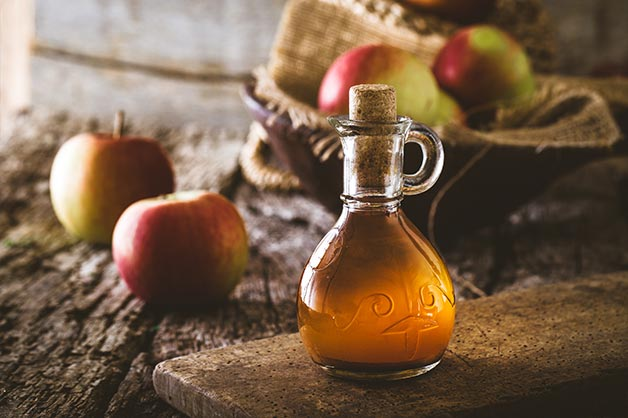 Apple cider vinegar in a jar