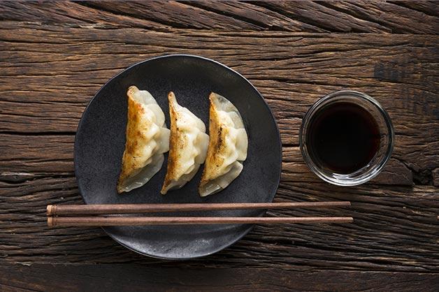 Black vinegar with dumplings