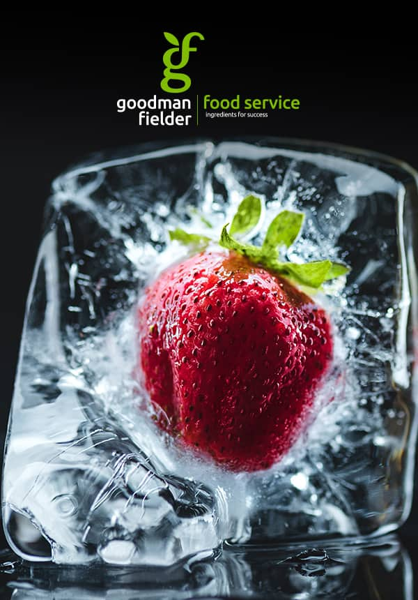 Poster of strawberry frozen in ice