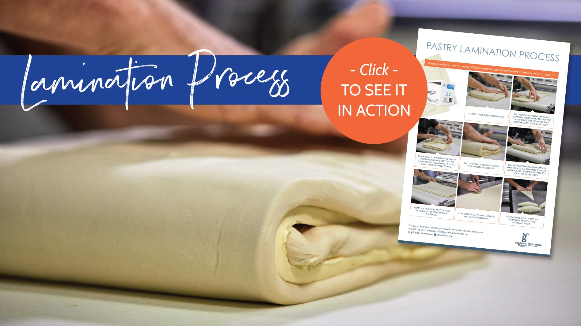 Lamination process using margarine sheets