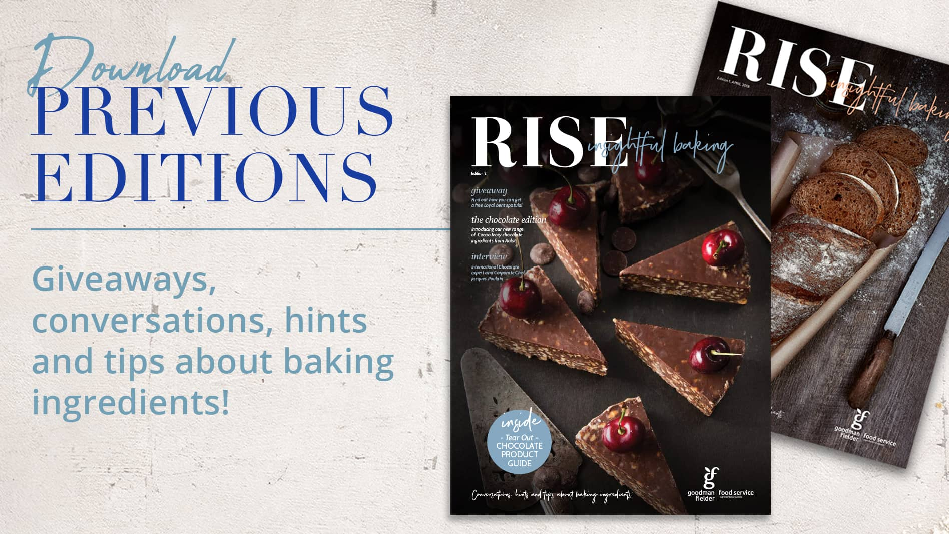Rise Insightful Baking: Previous Editions