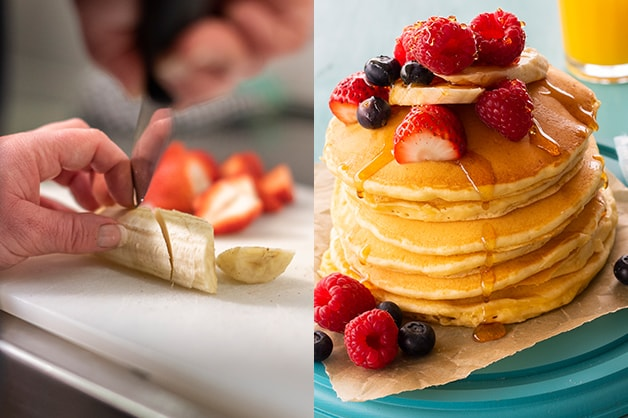 Image shows the final pancake product