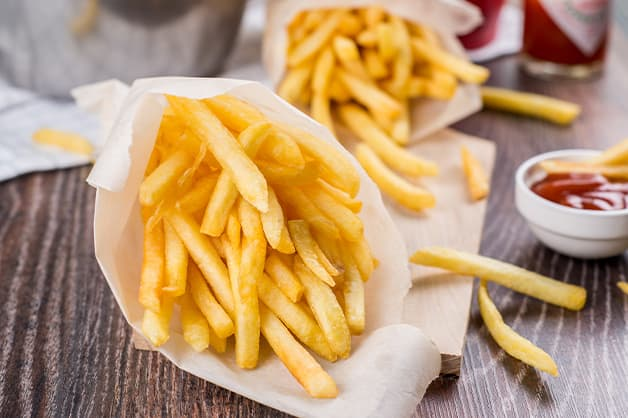 Image is of fresh hot chips