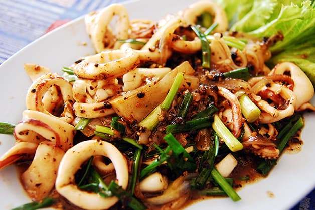 Image is of chilli squid
