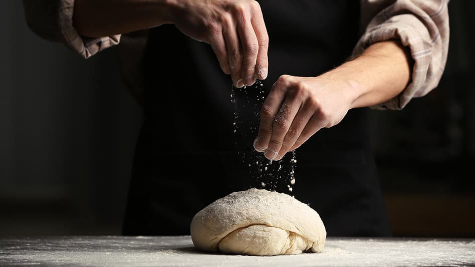 Image of a chef doing some gluten free baking
