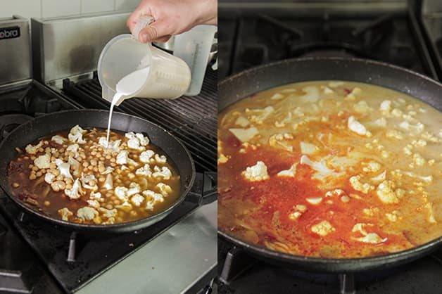 Cooking of the curry