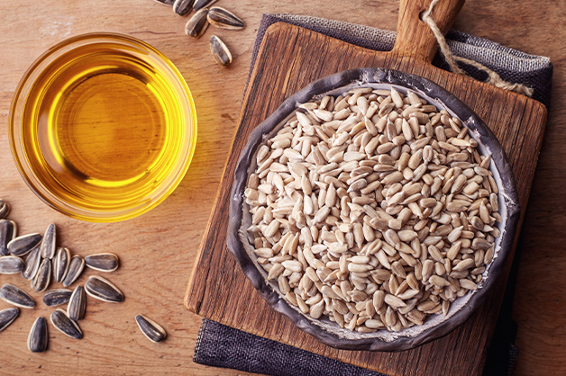 Vegetable oil with seeds