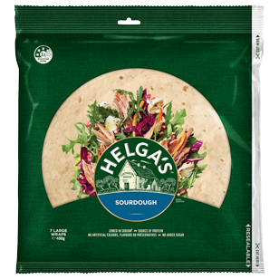 Helga's Sourdough Wrap 10 inches 7 pack product photo