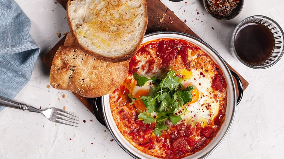 Shakshuka with Toasted Turkish Bread