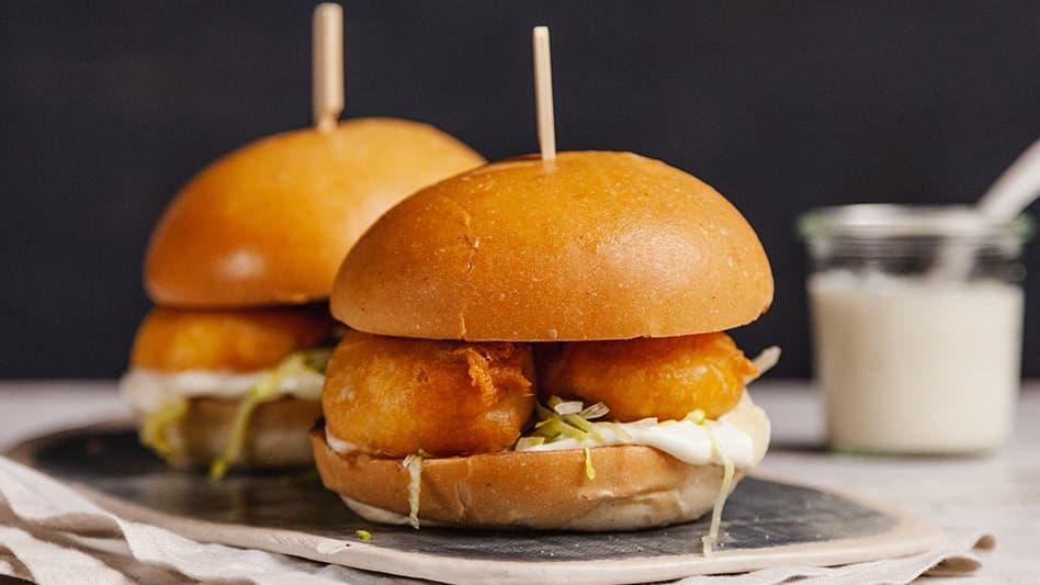 Crispy Prawn Burger