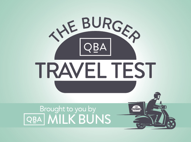 Burger delivery travel test